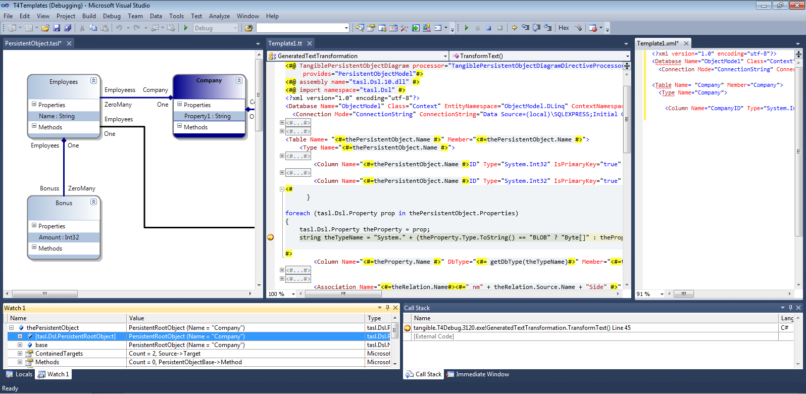 T4 editor t4 editor plus uml style modeling tools for visual studio 2008 2015 ccuart Gallery